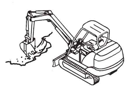 Prevent machine tipping over from occurring. Operate the machine slowly to ensure safe operation. SA-1293 M586-05-021