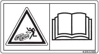 SAFETY SIGNS SS-1710 • Serious injury may result if the plug flies off the track adjuster.