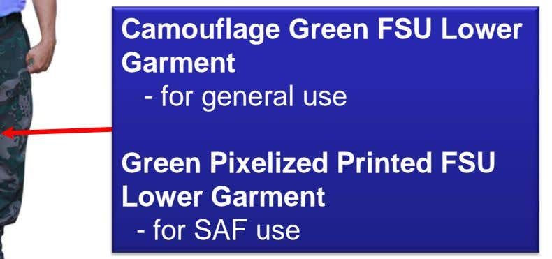 Camouflage Green FSU Lower Garment - for general use Green Pixelized Printed FSU Lower Garment -