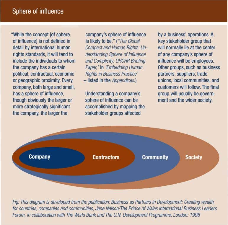 "Sphere of influence ""While the concept [of sphere of influence] is not defined in detail"