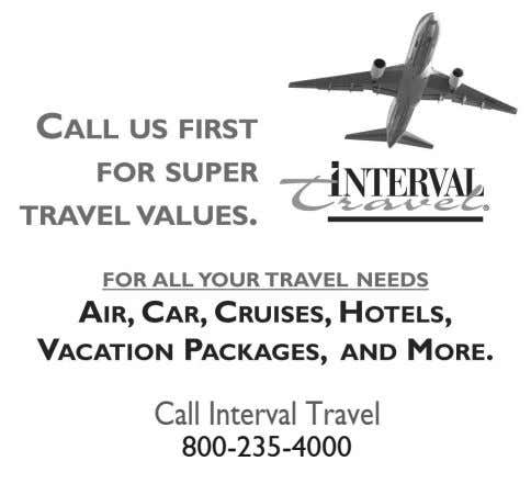 Call Interval Travel 800-235-4000