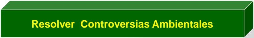 Resolver Controversias Ambientales