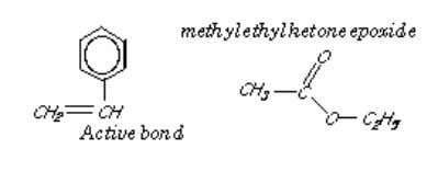 this that provides the bridge between the polyester chains. The monomer is usually mixed with the