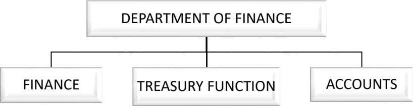DEPARTMENT OF FINANCE FINANCE TREASURY FUNCTION ACCOUNTS