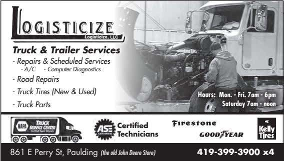 Truck & Trailer Services - Repairs & Scheduled Services - A/C - Computer Diagnostics -