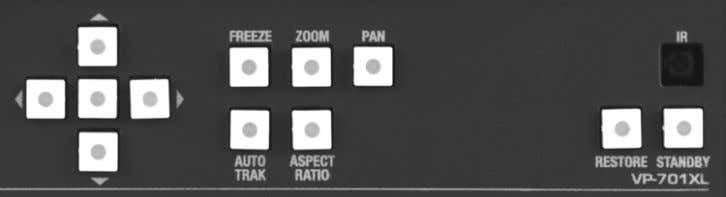 4 FRONT PANEL CONTROLS The range of buttons on the front of the unit provides the