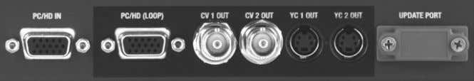5 INPUTS AND OUTPUTS The units have different video inputs and outputs depending on your model.