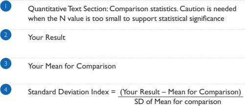 1 Quantitative Text Section: Comparison statistics. Caution is needed when the N value is too