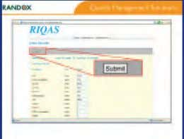 post. Participant reviews the report to assess performance Participant submits the results via RIQASNet, or sends