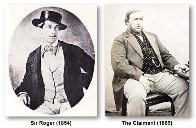 a £1000 stipend. Exhibit 1 Sir Roger and the Claimant Not everyone was quite so convinced