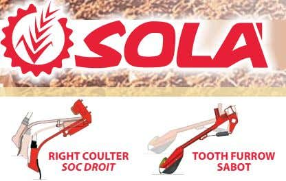 RIGHT COULTER TOOTH FURROW SOC DROIT SABOT
