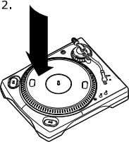 operating the turntable from the cartridge. PLATTER SETUP WARNING: Incorrect Platter setup can lead to poor