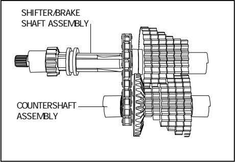 SHIFTER/BRAKE SHAFT ASSEMBLY COUNTERSHAFT ASSEMBLY