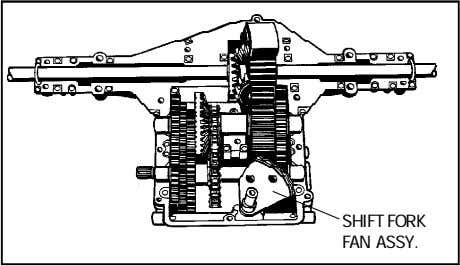 SHIFT FORK FAN ASSY.