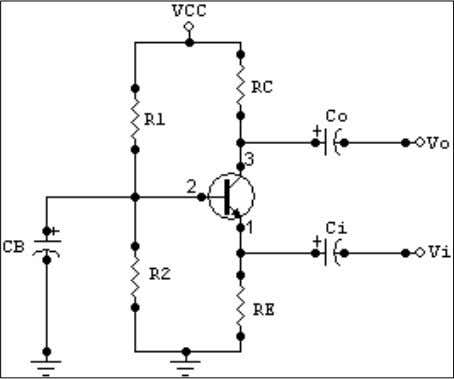 shown in Figure 6-1 shows a common base amplifier network. - DC-analysis: Since R 1 //R