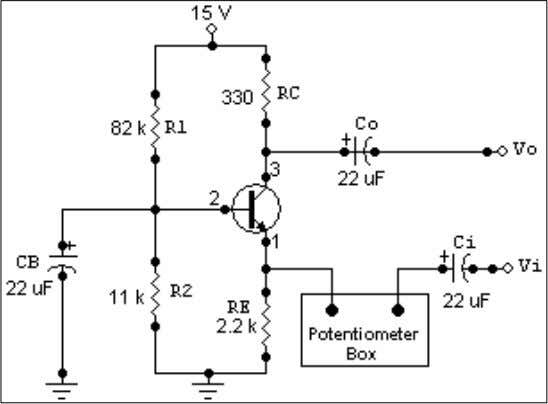 328.9 We connected the potentiometer as shown in Figure 6-7. Figure 6-7 Then we varied the