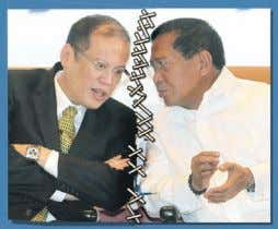 "housing."" Binay on Monday said his working relationship Stitching the split. President Aquino and Vice President"