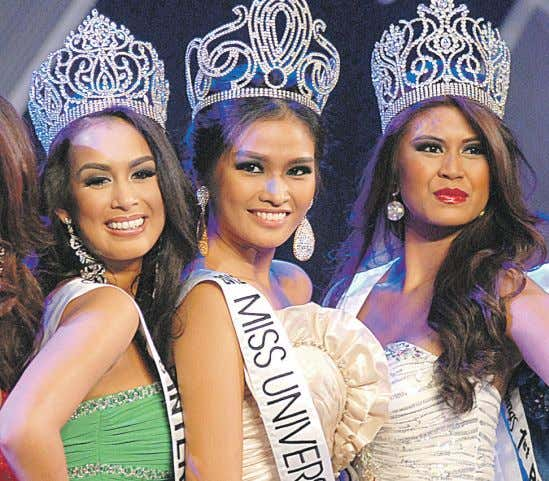 between his group and the President's party. But Next page Beauty queens. Janine Tugonon (center), a