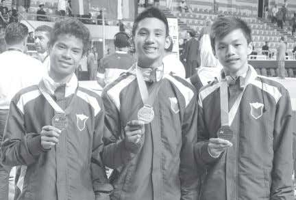 short program at the PH jins bag 3 bronze medals in Egypt Aaron James Galita, Keno