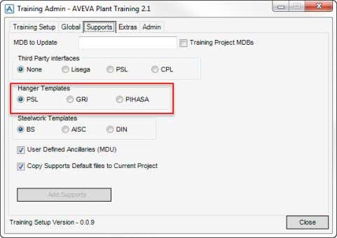 AVEVA Everything3D™ (2.1) Supports Administration TM-1865 For the purposes of the Training the Training Project (TRA)