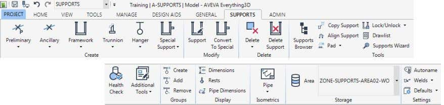 must not contain any of the old style MDS type Supports. © Copyright 2015. AVEVA Solutions