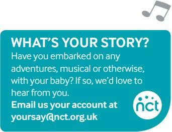 What'S your Story? Have you embarked on any adventures, musical or otherwise, with your baby?