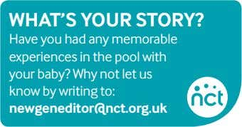 What'S your Story? Have you had any memorable experiences in the pool with your baby?