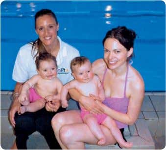 Mums and babies get into the swim of things on the Baby Swim Foundation programme.