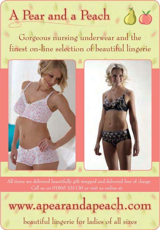 Gorgeous nursing underwear and the finest on-line selection of beautiful lingerie All items are delivered