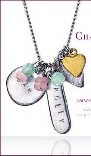 personalised celebration jewellery www.chambersandbeau.com enquiries@chambersandbeau.com tel: 07979 800441