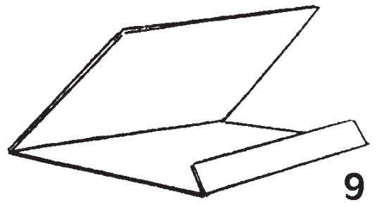 to hold the printing sheets, the print and the flap. (Fig. 9). Cut a piece of