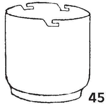 45). The third pot takes no active part and is unprepared. The disc is of thick