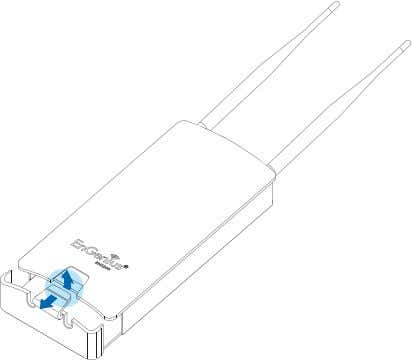 below. 1. Remove the bottom cover pr otecting the RJ-45 connec- tors. Figure 2-1: Removing the