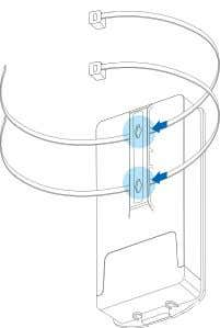 through the mounti ng bracket on the back of the ENS202EXT. Figure 2-7: Pole Mount (1