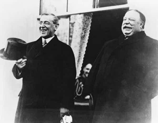 WILSON AND TAFT Wilson and Taft Having just squared off in the 1912 election campaign, the
