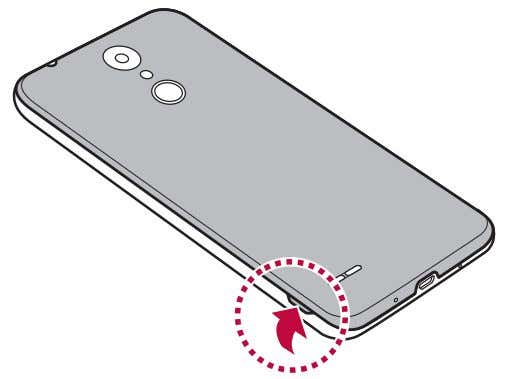back cover with your thumbnail as shown in the figure below. 2 Slide the SIM card