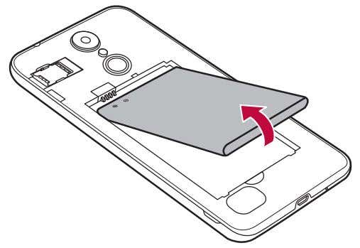 the battery Open the back cover and pull out the battery. • Turn off the device