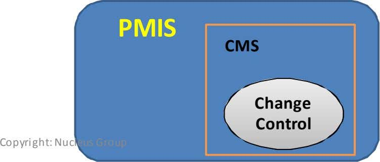 PMIS CMS Change Control Copyright: Nucleus Group