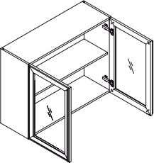 Kitchen module Product Code Description Dimensions (W x H x D) QWAG9070 Wall Unit, 2 Glass