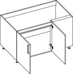 Kitchen module Product Code Description Dimensions (W x H x D) Base Unit, 2 Doors, QB8070