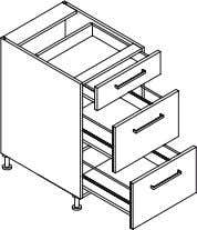 Kitchen module Product Code Description Dimensions (W x H x D) QBD3S4570 Drawer Unit,   450