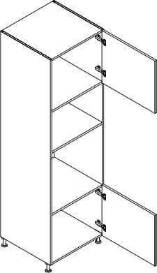 Kitchen module Product Code Description Dimensions (W x H x D) QTE45200 Tall Larder Unit, 1