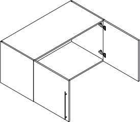 Wardrobe module Product Code Description Dimensions (W x H x D) QJ4560 Joint Unit, 1 Door