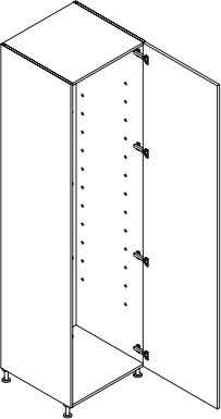 Wardrobe module Product Code Description Dimensions (W x H x D) QT45225 Tall Unit, 1 Door