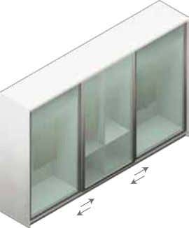 Wardrobe sliding door Product Code Description Dimensions (W x H) 2 x Sliding FG Doors QSL2FG-150