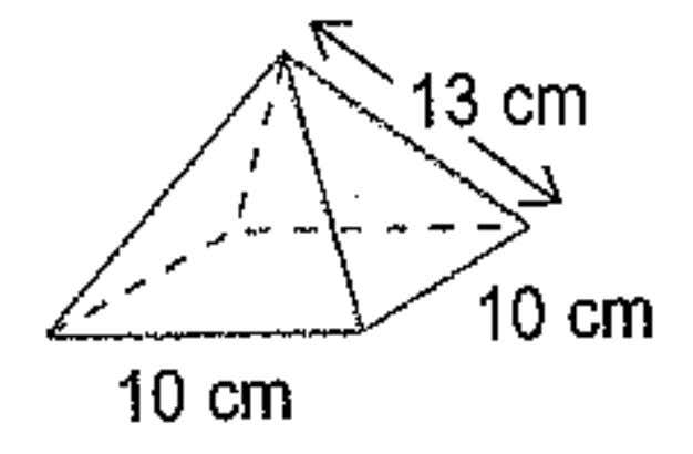 Example 1: Calculate the surface area of the pyramid shown.