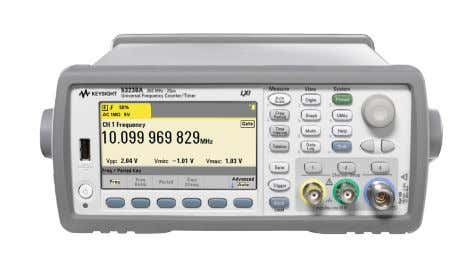 15 | Keysight | 53200A Series RF/Universal Frequency Counter/Timers - Data Sheet Timebase Timebase Uncertainty =