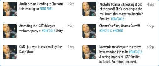 And it begins. Heading to Charlotte this evening for #DNC2012 1 Sep Michelle Obama is