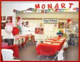 Monart Birthday Party! See website for pricing Fiorela Delaney Jade