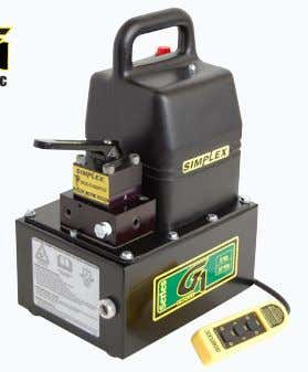 Electric Model Shown G1131 Reservoir Capacity  1 gallon Flow @ Rated Pressure  19